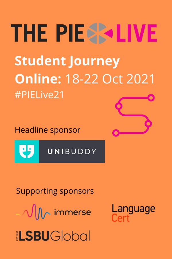 The PIE Live Student journey header