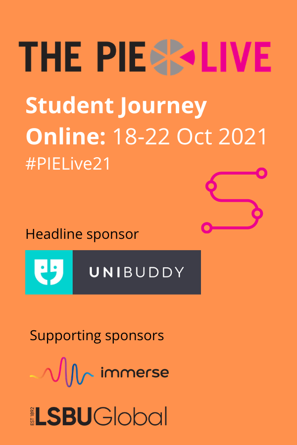 The PIE Live Student journey header