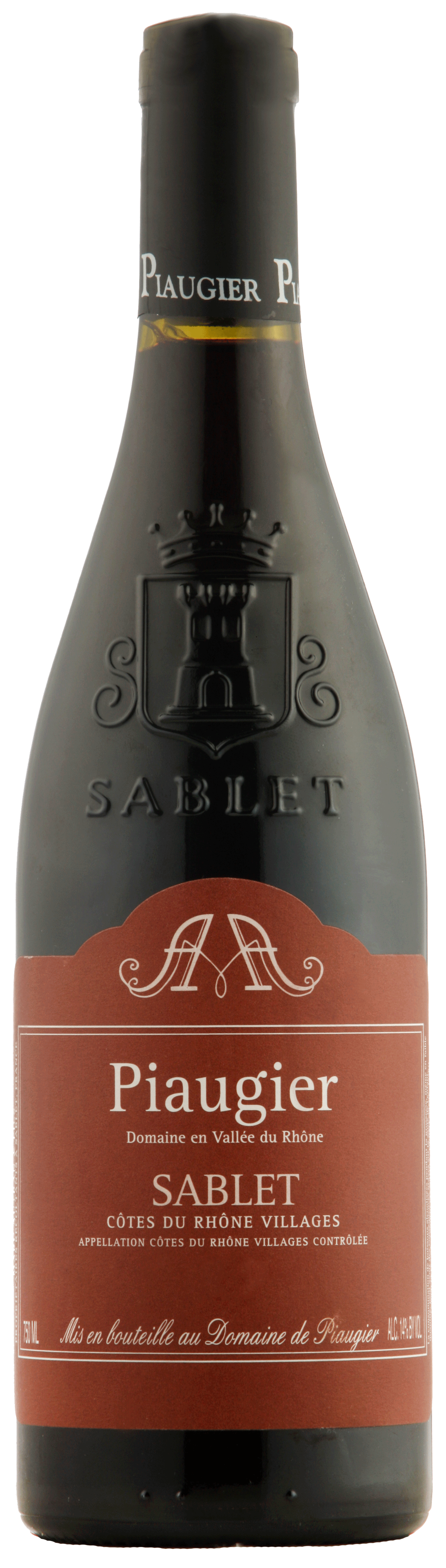 Sablet rouge, Côtes du Rhône-Villages.