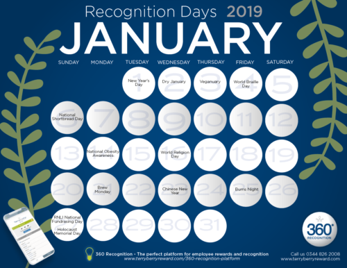 Download Free Recognition Calendar