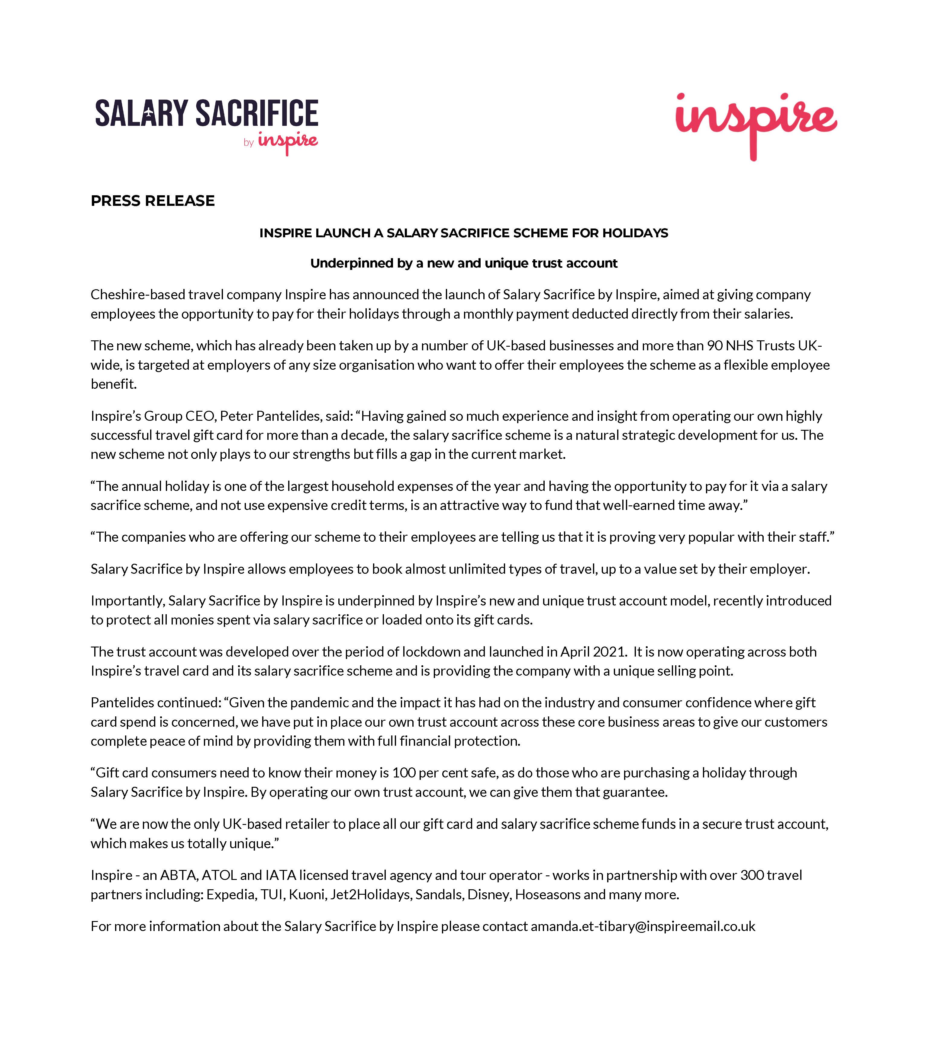 Salary Sacrifice by Inspire