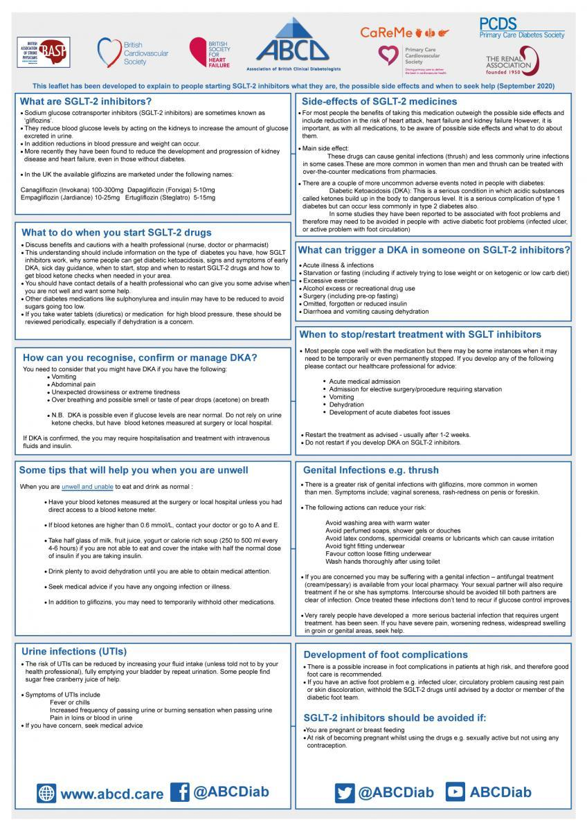 CaReMe Group Leaflet for people with Diabetes