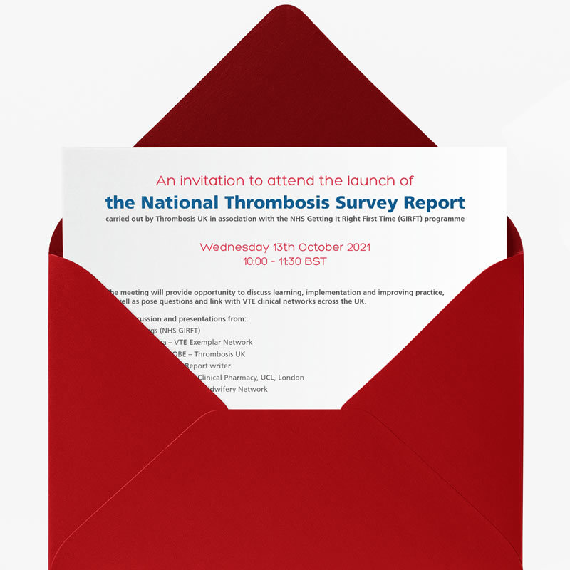 Thrombosis UK, National Thrombosis Survey Report