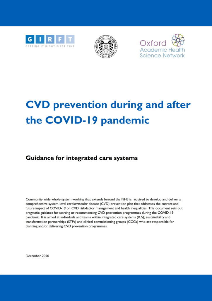 New guidance helps healthcare systems overcome disruption to CVD prevention due to pandemic