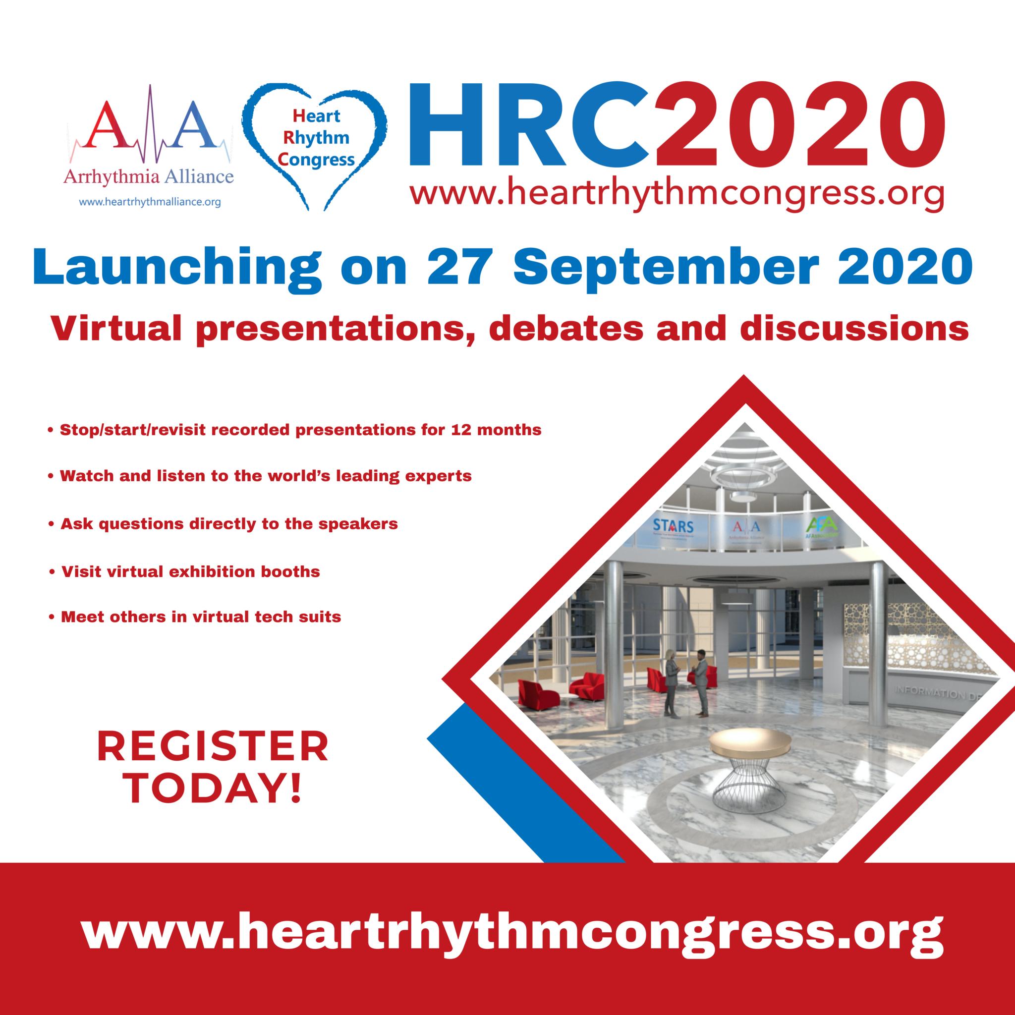 A-A Heart Rhythm Congress - Launching 27th September 2020