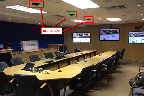 South African AV Installer Mounts MXL AC-360-Z On Ceiling for Complete Sound Coverage
