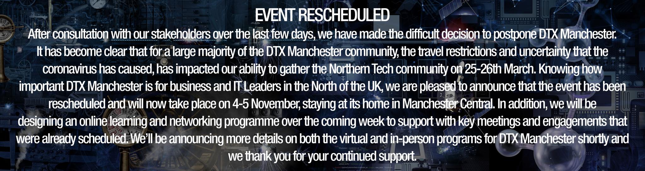 Event Rescheduled
