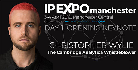 Cambridge Analytica Whistle blower, Christopher Wylie to headline IP EXPO Manchester 2019