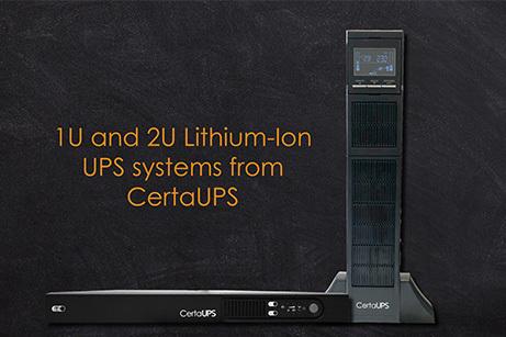 CertaUPS releases Lithium-ion UPS