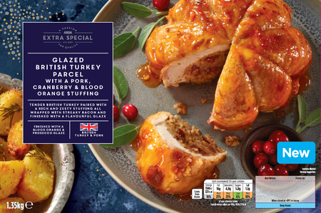 Asda Extra Special Glazed British Turkey Parcel with a Pork, Cranberry & Blood Orange Stuffing, Lakeside Food Group