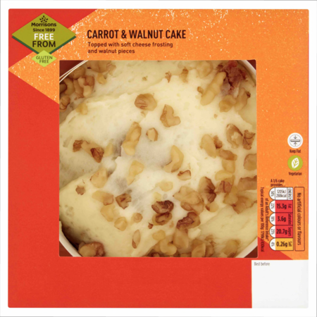 Morrisons Free From Carrot & Walnut Cake