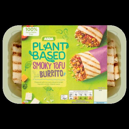 Asda Plant Based Smoky Tofu Burrito, SK Foods