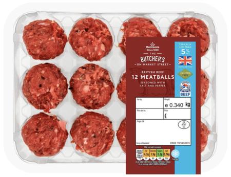 Morrisons 12 Beef Meatballs 5% Fat