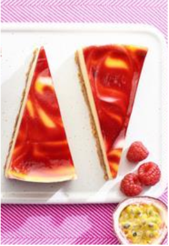 Co-op Irresistible Raspberry & Passion Fruit Cheesecake Slices