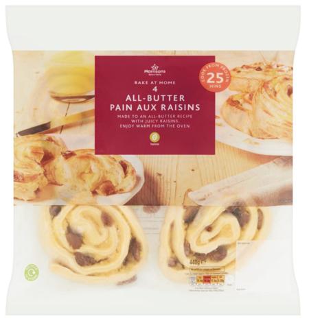 Morrisons Bake at Home Pain Au Raisin