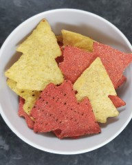 Asda Free From Wensleydale & Cranberry Tortilla Duo Coloured Shaped Christmas Trees
