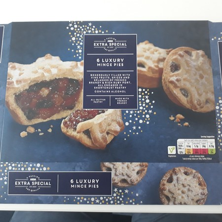 Asda Extra Special Luxury Mince Pies, Bright Blue Foods