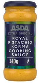 Asda Extra Special Royal Pistachio Korma Cooking Sauce, Greencore