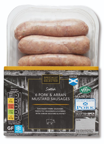 Aldi Specially Selected Honey & Mustard Flavoured Sausages