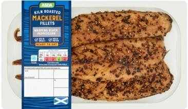 Asda Kiln Roasted Peppered Mackerel Fillets