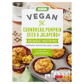 Asda Vegan Cornbread Pumpkin Seed and Jalapeño Breakfast Muffin Kit, Symington's