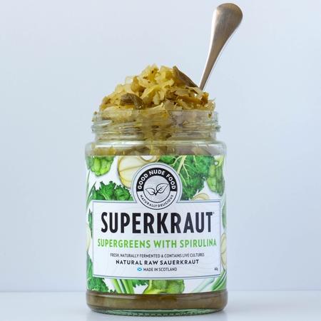 Superkraut Supergreens with Spirulina, Good Nude Food