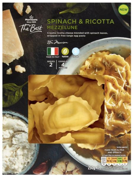 Morrisons The Best Spinach & Ricotta Mezzalune