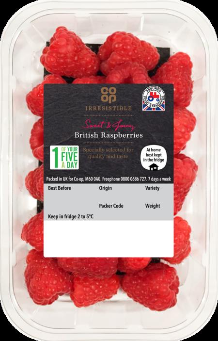 Co-op Irresistible Raspberries, BerryWorld Group