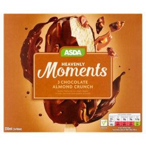 Asda Heavenly Moments Chocolate Almond Crunch Ice Creams, R&R Ice Cream