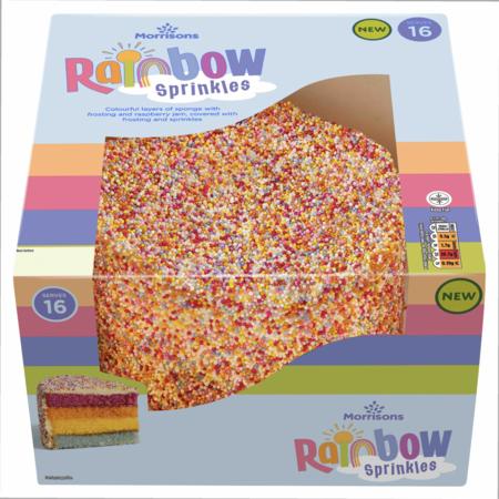 Morrisons Rainbow Celebration Cake