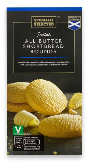 Aldi Specially Selected All Butter Shortbread Rounds