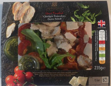 Co-op Irresistible Chicken Pomodoro Pasta Salad, Greencore Salads