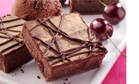 Co-op Irresistible Sour Cherry and Belgian Chocolate Brownies, Baker and Baker