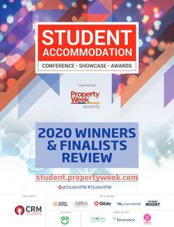 2020 Winners & Finalists review