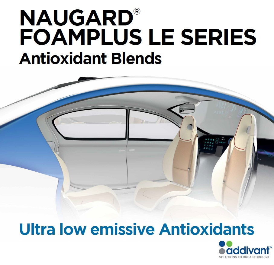 Addivant. Your first stop partner for our new FOAMPLUS low emissive antioxidants for automotive foams & polyurethanes.