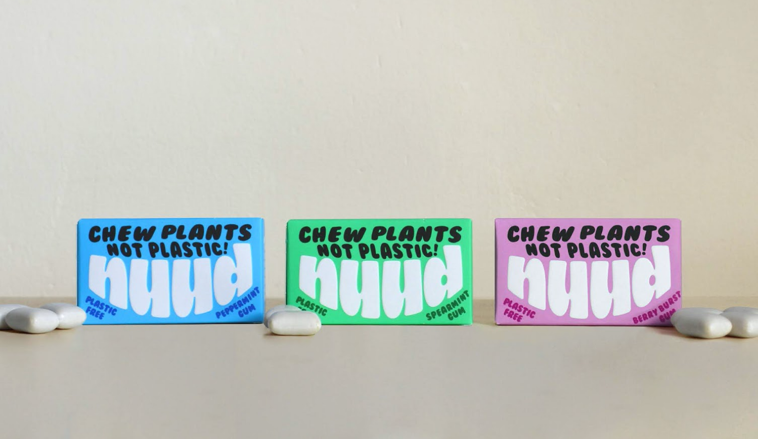 Biodegradable chewing gum Nuud