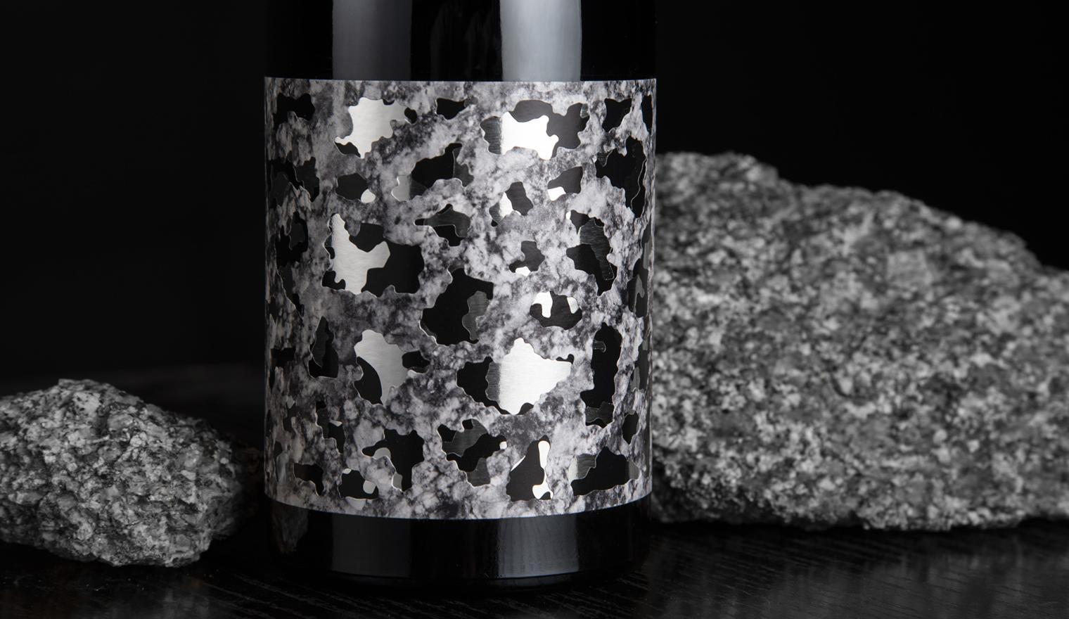 Javier Garduño EdD Granite paper labels for Bodega Sotero Pintado Winery