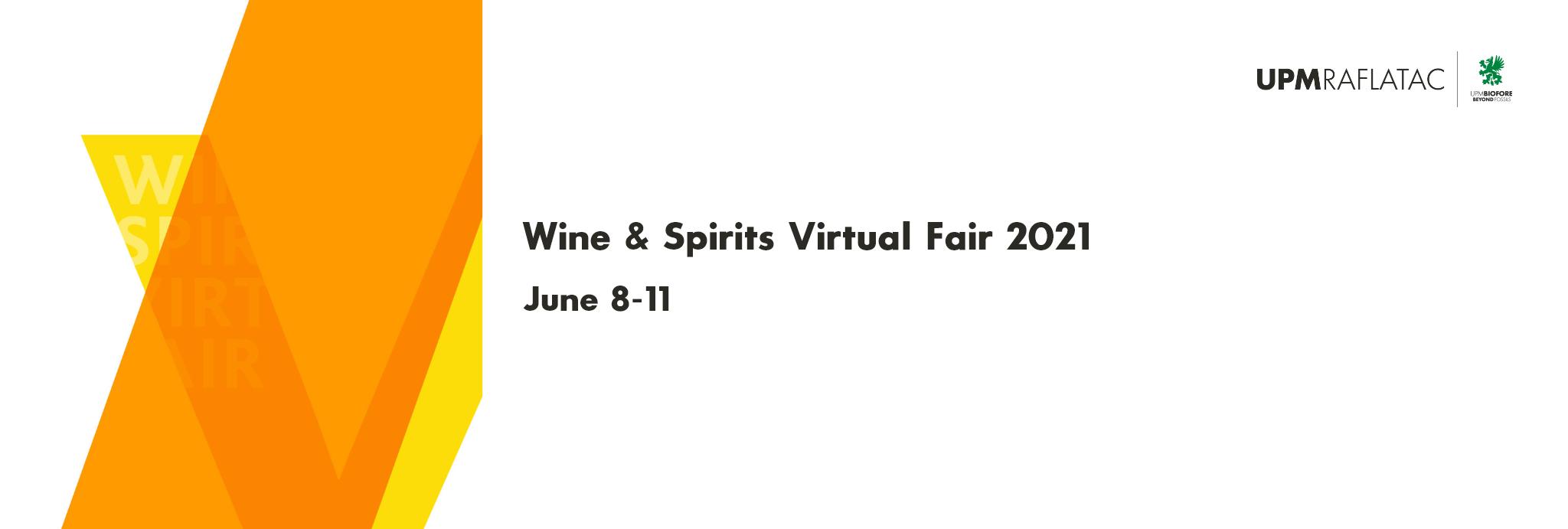 Wine & Spirits Virtual Fair Header