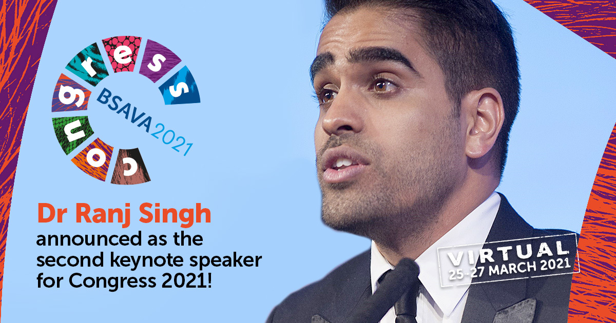 Dr Ranj brings practical wellbeing advice to BSAVA Virtual Congress